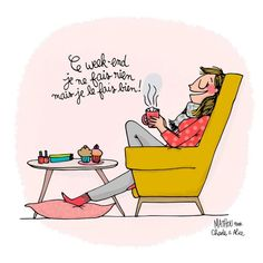 Illustration Crayon d& by Mathou www. Happy Weekend Images, Happy Weekend Quotes, Bon Weekend, Weekend Gif, Quote Citation, How To Speak French, French Quotes, My Mood, Positive Attitude