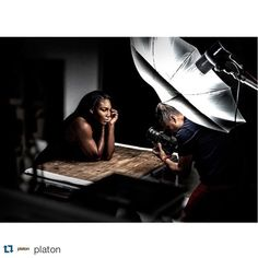 #Repost @platon ・・・ bts of @serenawilliams for @wired. #photographylightingsetup