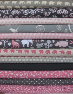 Pink and grey @ Cynthia Mann Silver Color, Pink Color, Cute Quilts, Gris Rose, Elephant Design, Sewing Table, Baby Elephant, Couture, Pink Grey