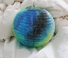 Galaxy Paper Lantern from OwnTheSkyART on Etsy. Saved to My Wishlist. #galaxy #want #addicted.