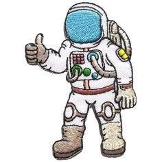 NASA Astronaut journey to space sewing Iron on Patches Embroidered... ($1.49) ❤ liked on Polyvore featuring home and home improvement