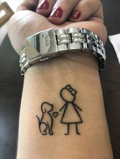 Tatoo girl and labrador ☺️ - Tattoo-Ideen - Perros Mädchen Tattoo, Dog Tattoos, Mini Tattoos, Trendy Tattoos, Animal Tattoos, Cute Tattoos, Beautiful Tattoos, Body Art Tattoos, Small Tattoos