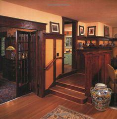 craftsman interior with stunning woodwork