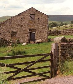 A typical farm scene in Yorkshire, England
