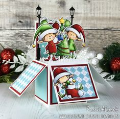 Hello! I'd like to quickly share a fun pop-up Christmas box card that I made for another crafty friend. I have been eyeing the BB...