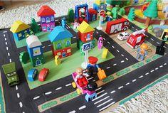 Город на картонке)) - Игры с детьми - Babyblog.ru