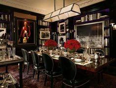 Ralph Lauren's home Apartment No. One DUKE SIDE CHAIR RL Number: 868-28 DUKE PEDESTAL DINING TABLE RL Number: 1866-20
