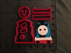 Thomas the Train Cookie Cutter Set by JBCookieCutters on Etsy, $8.50