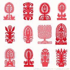 image Polish Symbols, Slavic Tattoo, Polish Embroidery, Polish Folk Art, Scandinavian Folk Art, Mosaic Madness, Ukrainian Art, Web Design, Arte Popular