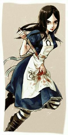 Alice Liddell - Alice: Madness Returns << I love the game, but it's way too long. That's just my opinion. Alice Madness Returns, Alice Liddell, Lewis Carroll, Princesas Disney Zombie, Charlie Chaplin, Creepypasta Anime, Art Anime, Pandora Hearts, Were All Mad Here