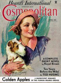 Cosmopolitan, April 1935. Bradshaw Crandell.