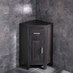 This Solid Oak Wenge Vanity Corner Cabinet from the Alta Range Storage unit incorporates a false drawer in order to hide plumbing work out of sight Oak Bathroom, Bathroom Furniture, Bathroom Storage, Family Bathroom, Bathrooms, Corner Vanity Unit, Corner Sink, Bathroom Wallpaper Waterproof, Small Bathroom Colors