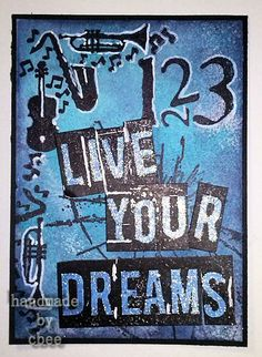 cbee's cards and Live For Yourself, 3rd Birthday, Mixed Media, My Arts, Crafty, Atc, Projects, Blog, Cards