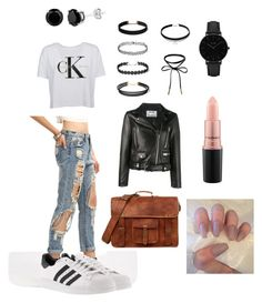 """""""Sans titre #4"""" by nadia-ness on Polyvore featuring mode, Calvin Klein, adidas, CLUSE, MAC Cosmetics et Acne Studios"""