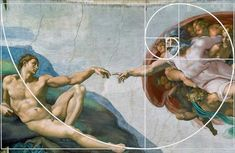 Michelangelo used the Golden Ratio when painting the Creation of Adam