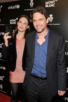 Claire Forlani and Dougray Scott Photos Photos: Montblanc Charity Cocktail Hosted By The Weinstein Company To Benefit UNICEF Dougray Scott, Claire Forlani, Scottish Actors, English Actresses, Celebrity Couples, Cute Couples, Beautiful People, Celebs, Sexy