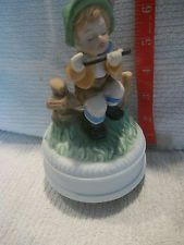 Antique/Vintage Porcelain Musical Boy Playing Flute