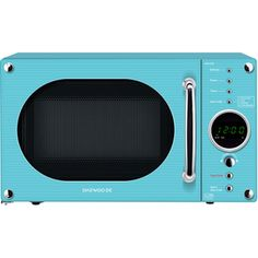 Buy Daewoo Touch Control Microwave from Appliances Direct - the UK's leading online appliance specialist Turquoise Kitchen, Shaker Doors, Kitchen Timers, Large Plates, Microwave Oven, House Party, Aqua, Teal, Kitchen Appliances