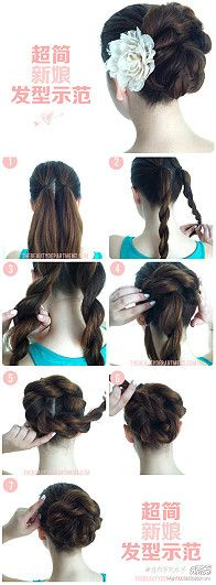 Long hair - nice and neat bun.