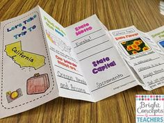 Bright Concepts 4 Teachers: Lesson Plans and Teaching Strategies: NEW Fifty Nifty States 3rd Grade Social Studies, Social Studies Lesson Plans, Social Studies Activities, Teaching Social Studies, Learning Activities, How To Make Brochure, Teaching Strategies, Teaching Ideas, Teaching Maps