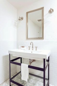 Home Interior Hallway Pedestal sink.Home Interior Hallway Pedestal sink Diy Bathroom Decor, Bathroom Interior, Small Bathroom, Bathroom Ideas, White Bathrooms, Bathroom Sinks, Remodel Bathroom, Bathroom Inspo, Master Bathroom
