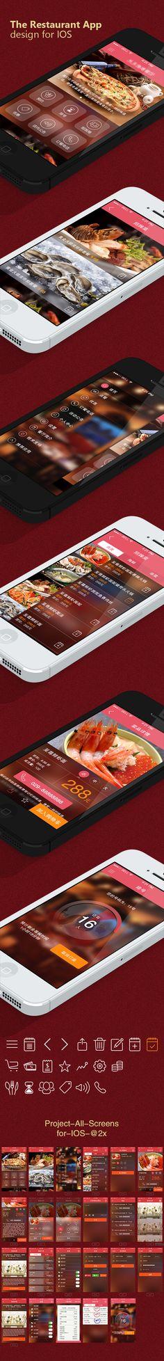 The Restaurant App Design by Streetevens, via Behance