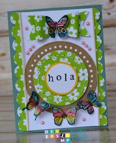 HOLA CARD WITH BUTTERFLIES - Scrapbook.com