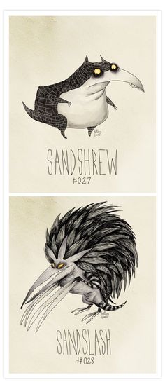 Pokemon in the style of Tim Burton