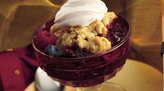 Make merry with a triple berry warm and cozy cobbler.