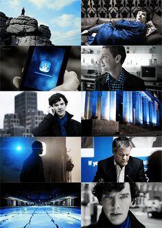 Sherlock in blue