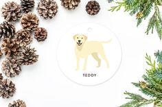 Labrador Ornament Personalized Christmas by MooseberryPaperCo
