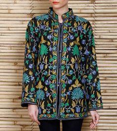 Sewn onto silk here to make an incredible jacket