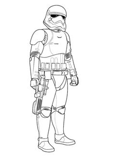 Captain Phasma coloring sheet from