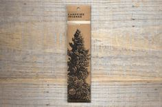 DOUGLAS FIR CAMPFIRE INCENSE: Made only with wildcrafted plants, tree sap, wood and bark found hiking the backcountry. No hidden ingredients. No charcoal or perfume. Incense for people who enjoy sitting around the campfire. Go there. Scent notes: mountain lodge fireplace, forest campground.
