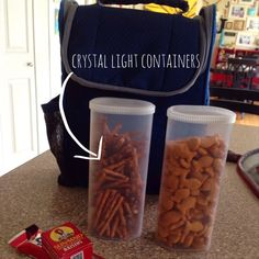 Upcycle empty Crystal Light containers and use them for storage solutions and all sorts of easy DIY projects and craft ideas! Mason Jars, Mason Jar Crafts, Easy Diy Projects, Projects To Try, Crystal Light Containers, Valentines Diy, Food Storage, Rv Storage, Storage Hacks