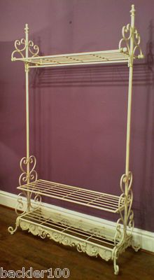 Shabby chic CREAM METAL CLOTHES Shoe Hat RAIL Wardrobe | Aluminum