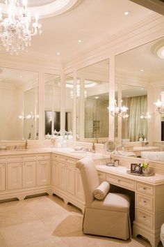 The vanity space in this master bath is a nice addition.