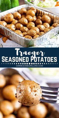 Quick and easy side dish on the Traeger! These Traeger Seasoned Potatoes are full of flavor and the perfect side dish recipe! Quick and easy side dish on the Traeger! These Traeger Seasoned Potatoes are full of flavor and the perfect side dish recipe! Traeger Smoker Recipes, Pellet Grill Recipes, Grilling Recipes, Easy Grill Recipes, Recipes For The Grill, Outdoor Cooking Recipes, Traeger Bbq, Griddle Recipes, Grilling Tips