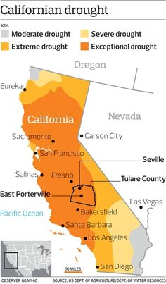 Californian drought map