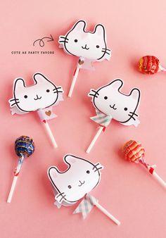 FREE Printable Bunny Lollipop Covers