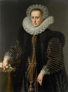 Portrait of a Woman, probably Maria Schuurman, c. by Anonymous, Rijksmuseum 16th Century Clothing, 16th Century Fashion, 17th Century, Renaissance Clothing, Historical Clothing, Historical Dress, Female Clothing, Female Portrait, Female Art