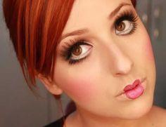 maquiagem boca de boneca - Pesquisa Google