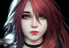 Kai Fine Art is an art website, shows painting and illustration works all over the world. Chica Fantasy, Anime Fantasy, Fantasy Girl, Elves Fantasy, Anime Redhead, Redhead Art, Female Character Design, Character Design Inspiration, Character Art