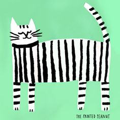 print & pattern blog - detail from cat tote bag by Louise Lockheart at The Printed Peanut