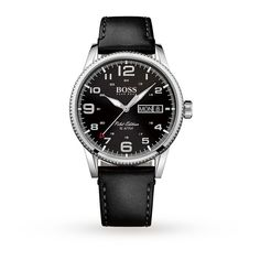 Hugo Boss Men's Pilot Vintage Watch | Mens Watches | Watches | Goldsmiths