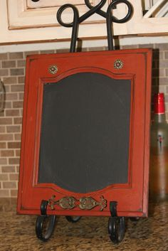 Old Cabinet Door into Chalkboard Menu