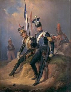 Polish Officers of the Napoleonic Army, 1852