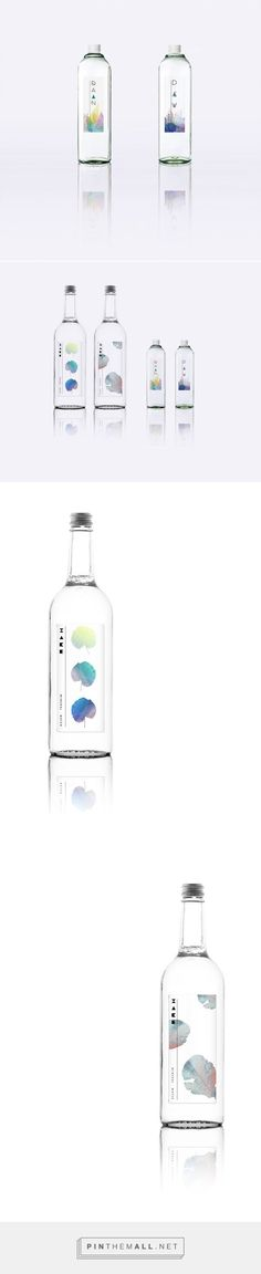 Mineral Water Packaging by Erica Su Water Packaging, Craft Packaging, Beverage Packaging, Bottle Packaging, Packaging Design, Branding Design, Label Design, Web Design, Agua Mineral