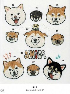 Items similar to Kawaii Hand Embroidery Animal Designs, Japanese Embroidery Pattern Book, Cute Cat & Dog Lovers Embroidered Decor Gifts, Easy Stitch Tutorial on Etsy Sashiko Embroidery, Japanese Embroidery, Embroidery Patterns Free, Hand Embroidery Designs, Embroidery Stitches, Art Patterns, Embroidery Supplies, Embroidery Kits, Embroidery Books