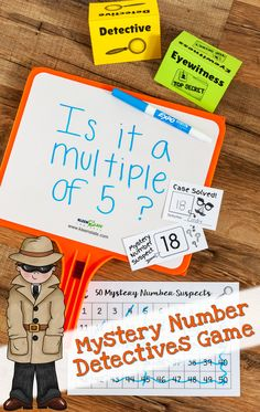 Mystery Number Detectives is just about the only math test-prep game your kids will BEG to play! It's a detective-themed variation of Guess My Number that comes with the printables and game materials you need to get started right away. Includes task card images for Plickers, too! #LauraCandler